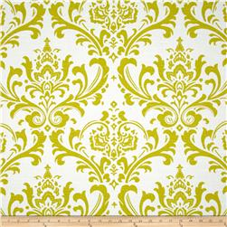 Premier Prints Traditions Slub Artist Green Fabric