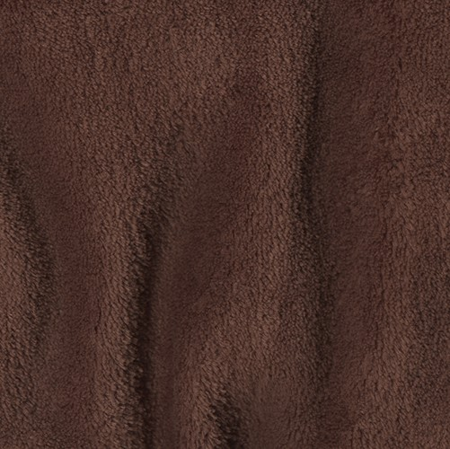 Double-Sided Minky Fleece Brown Fabric