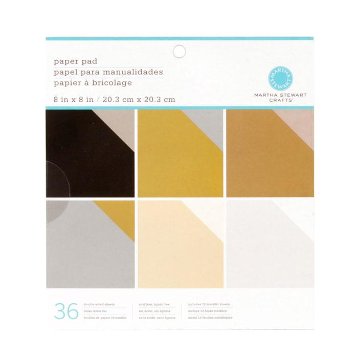 "Martha Stewart Crafts Paper Pad 8"" X 8"" Neutrals"