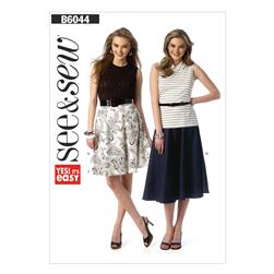 Butterick Misses' Skirt Pattern B6044 Size 0A0