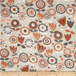 Fabric Freedom Quirky Floral Gray