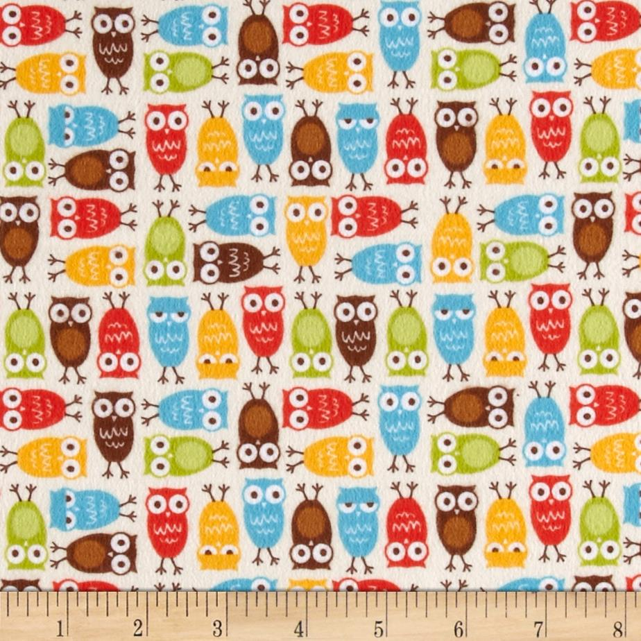 Kaufman Urban Zoologie Mini Flannel Owls Wild