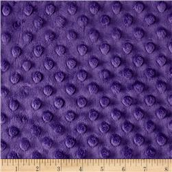 "Minky Cuddle Dimple Dot 90"" Amethyst"