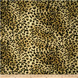 Fleece Leopard Skin Black/Cream