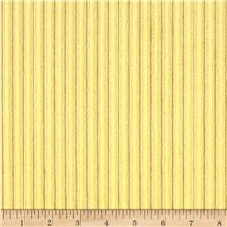Telio Stripe Minky Velour Yellow
