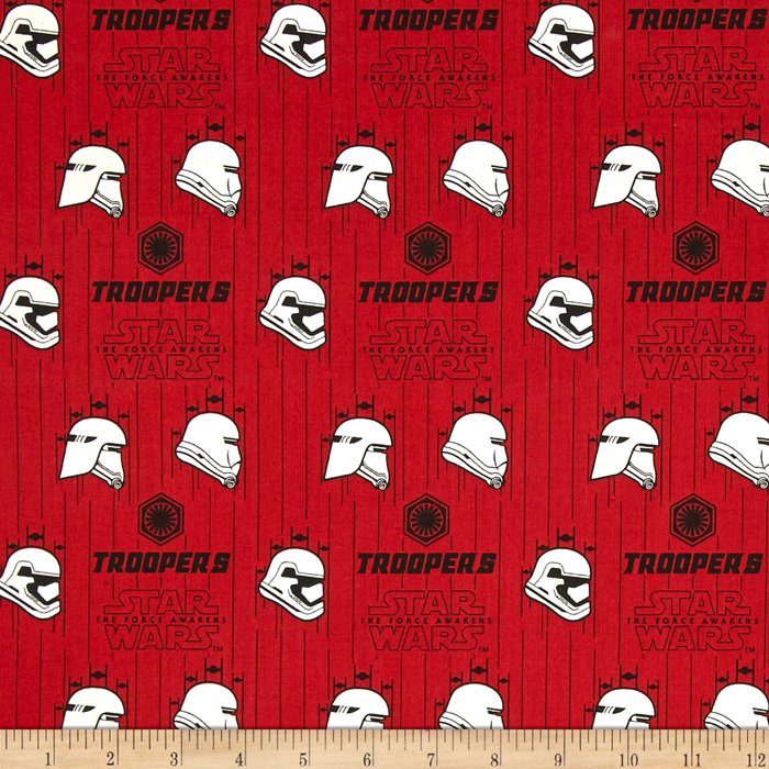 Star Wars The Force Awakens Storm Trooper Ruby Fabric 0418939