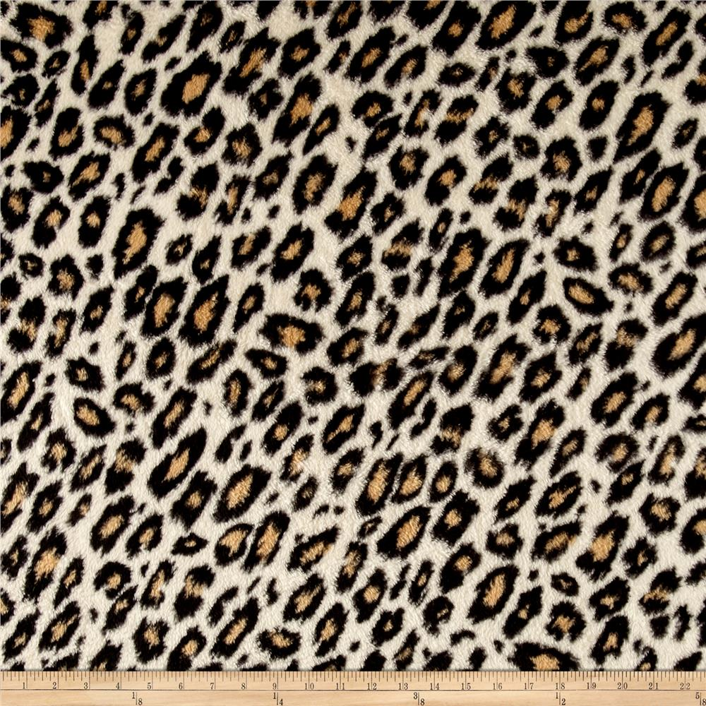 Whisper Plush Fleece Cheetah Tan Fabric