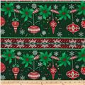 Christmas Wishes Festive Festoon Stripe Evergreen