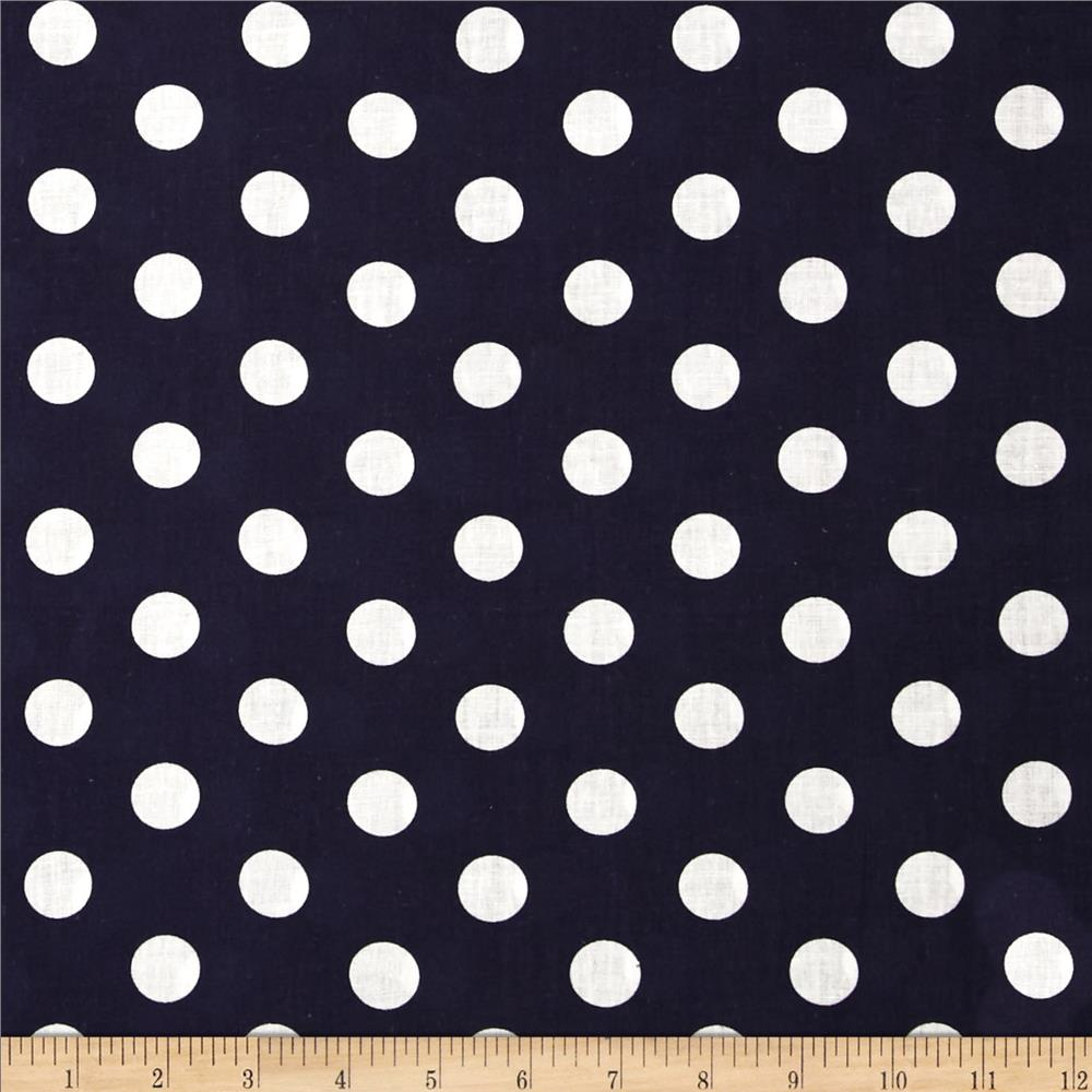 Forever Large Polka Dot Navy