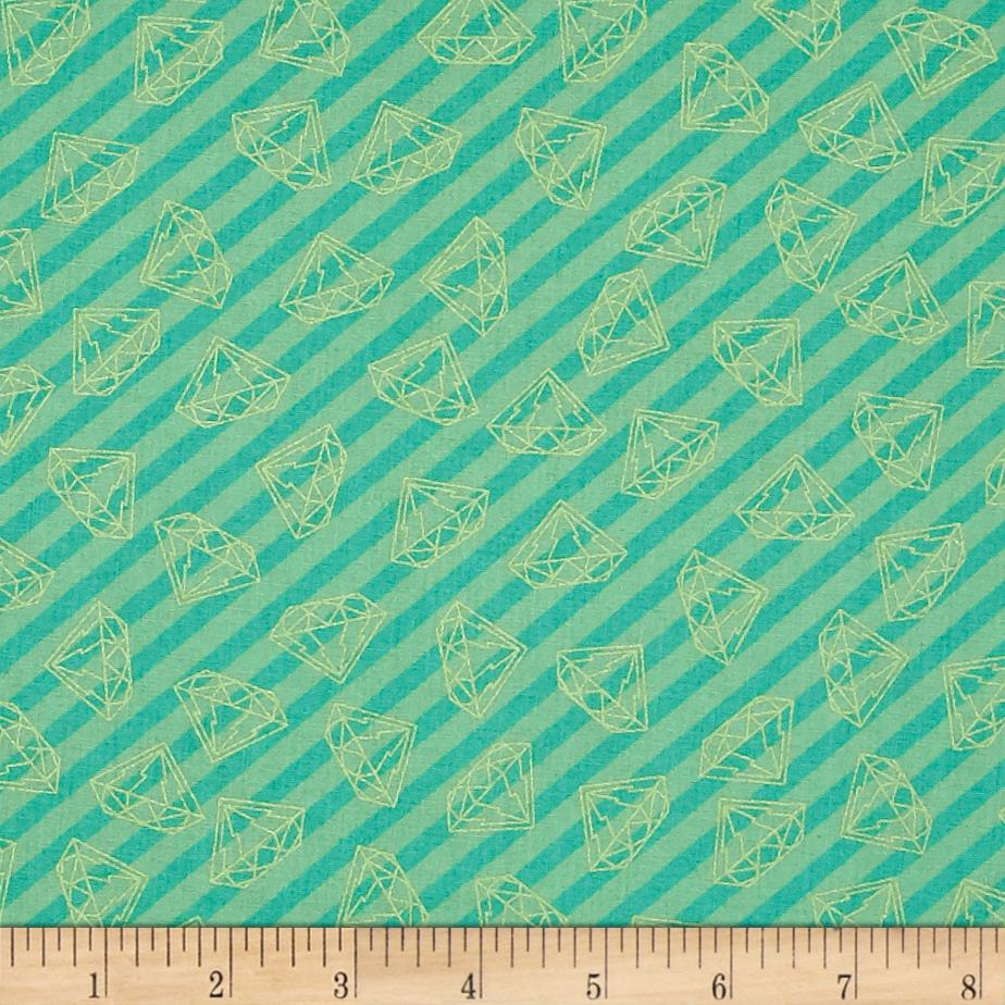 Tattooed Gem Stripe Teal