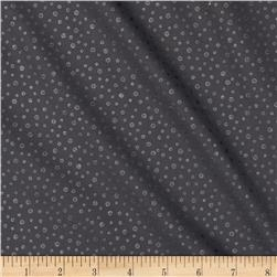 Pearl Essence Dots Black Fabric