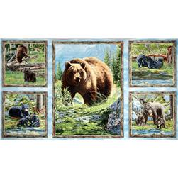 Bear Meadow Pillow Panel Multi