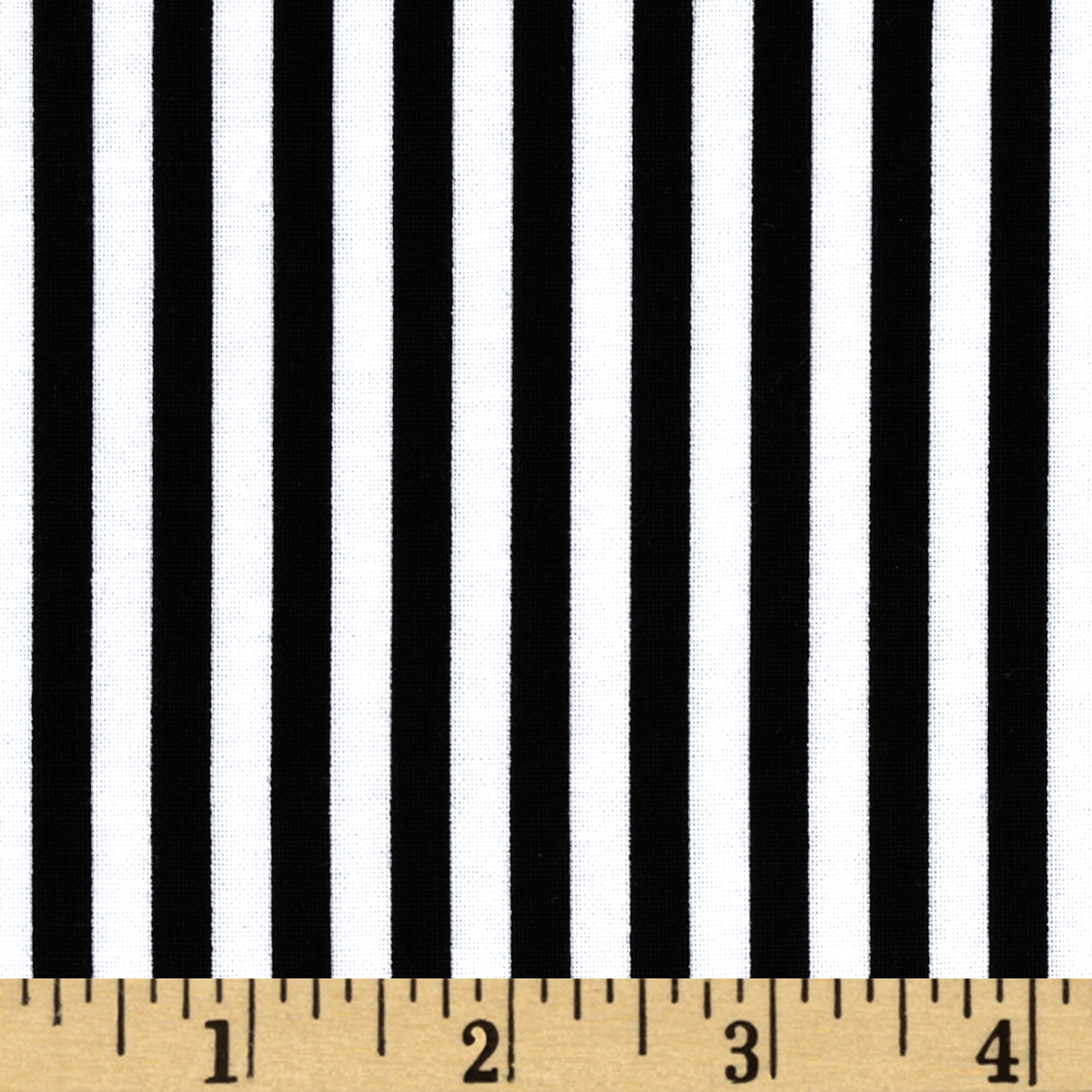Timeless Treasures Geometric/Abstract Coordinates Stripe Black Fabric