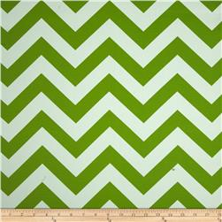 RCA Chevron Blackout Drapery Fabric Green