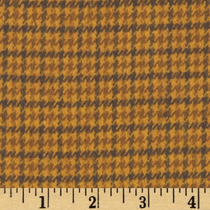 Primo Plaids Harvest Flannel Micro Plaid Gold