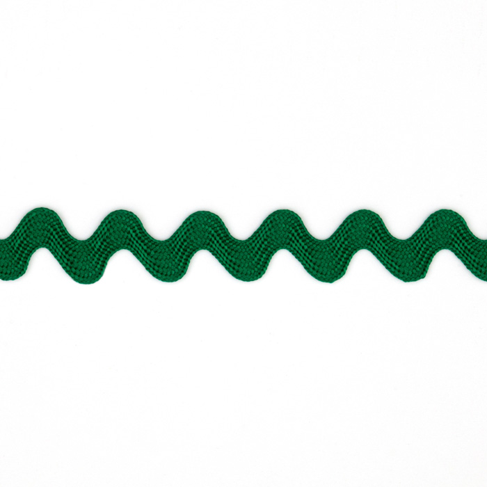 1/2'' Ric Rac Rayon Medium Trim Green