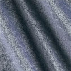 Shimmer Wash Crushed Rayon Shirting Blue