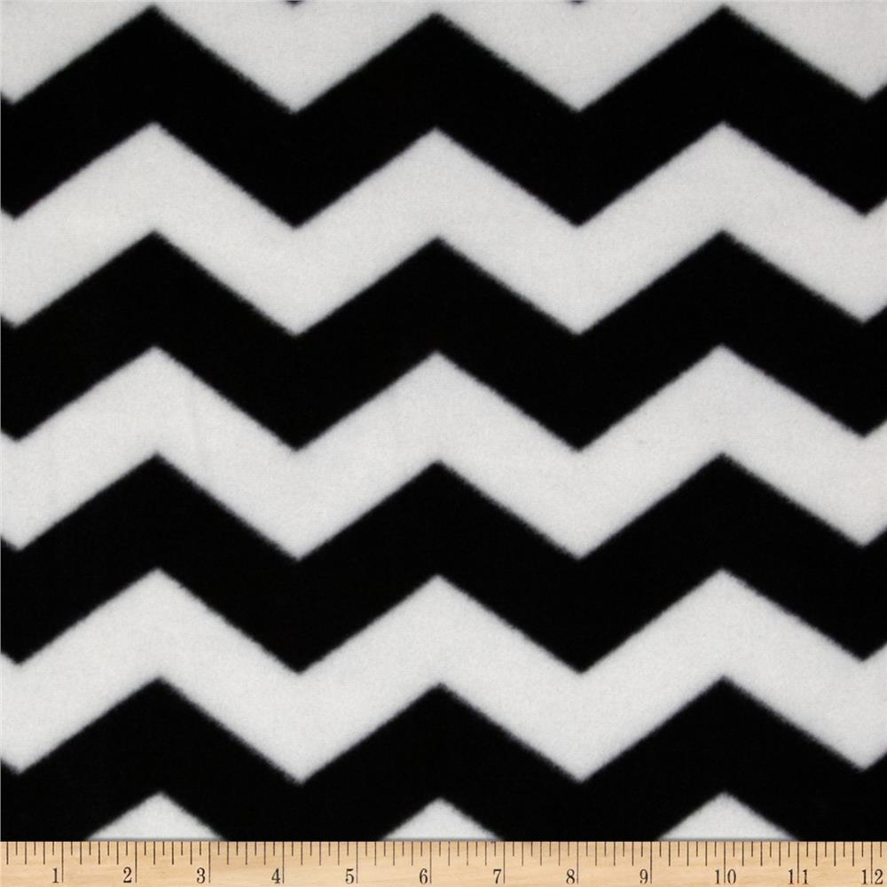 Chevron Fleece Black/White