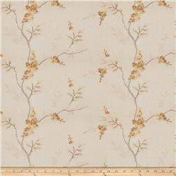 Fabricut Linen Embroidered Twill Brookdale Butterscotch