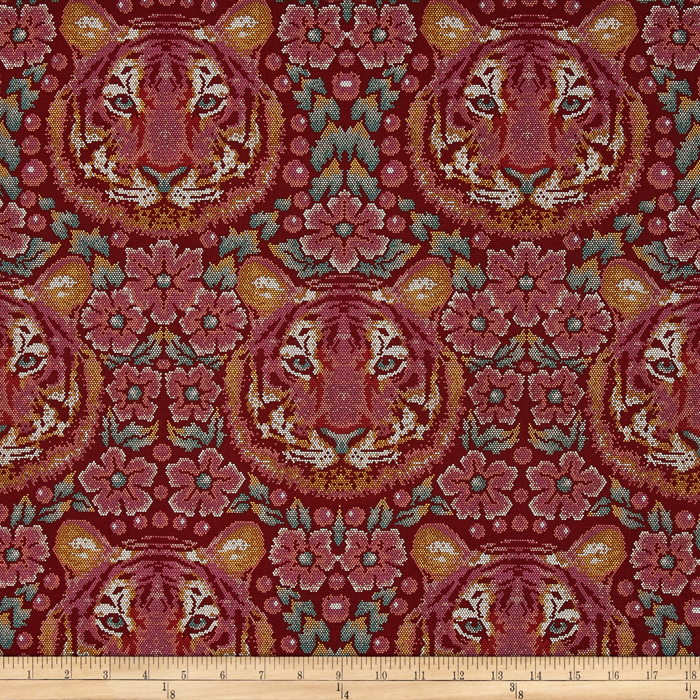 Tula Pink Eden Crouching Tiger Tourmaline Fabric by Westminster in USA