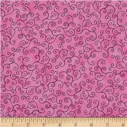 Flower Fantasy Scroll Pink