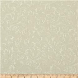 110'' Wide Quilt Backing Filigree Cream White