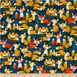 Animal Diary Foxes Blue