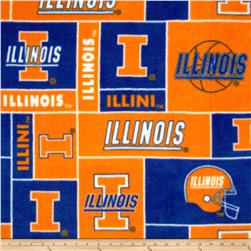 Collegiate Fleece University of Illinois Blocks Orange/Blue