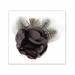 Laliberi Pin & Clip Flower Multi Feather Leaf Flower Grey