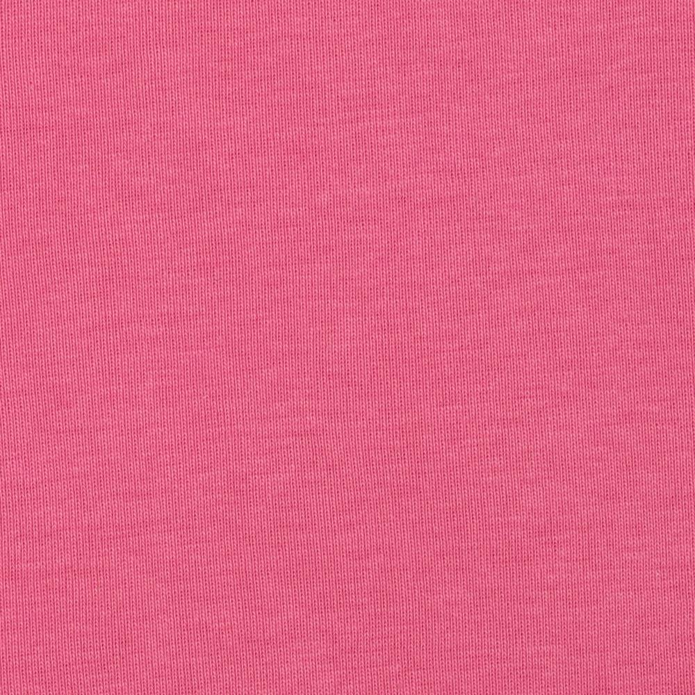 Cotton Baby Rib Knit Solid Warm Pink
