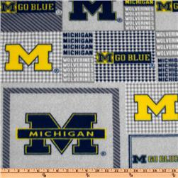 Collegiate Fleece University of Michigan Plaid Blocks Blue/Yellow