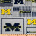 Collegiate Fleece University of Michigan Plaid Blocks