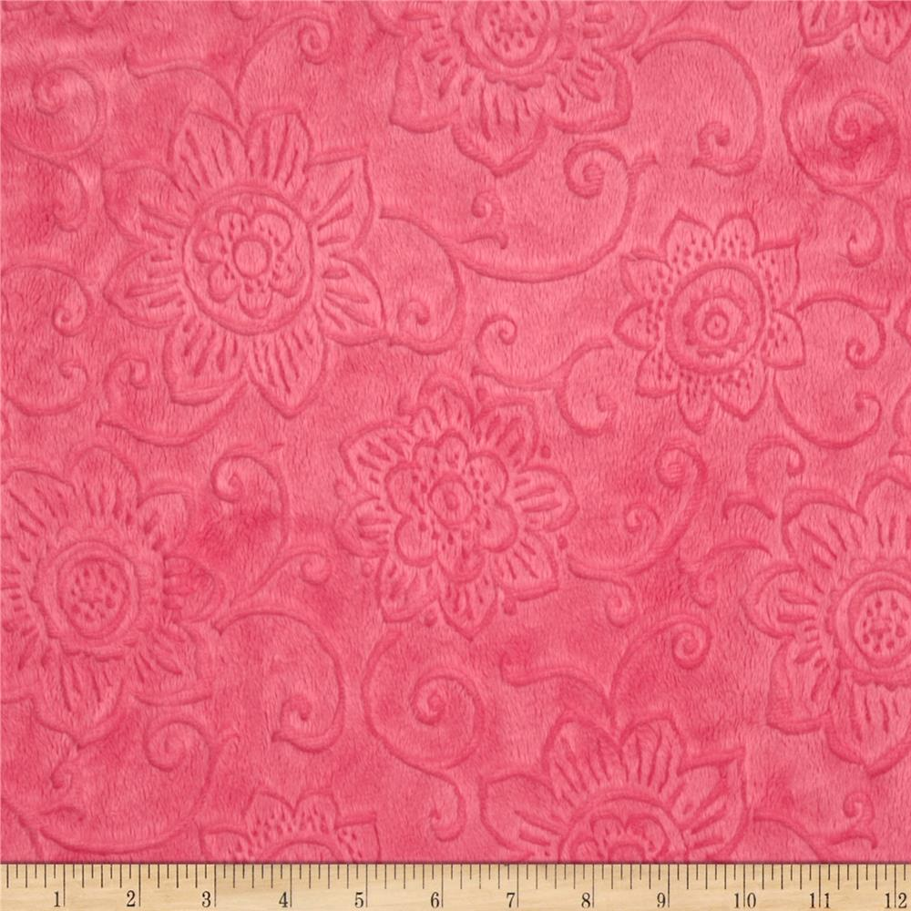 Minky Cuddle Spice Market Embossed Flower Paris Pink