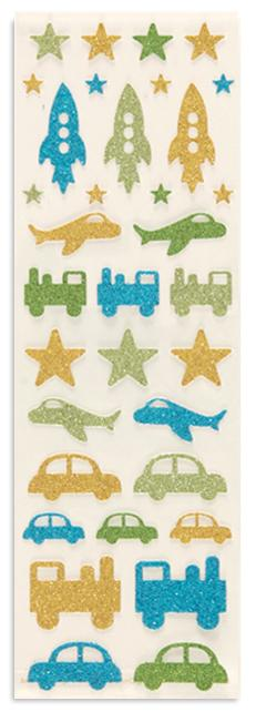 Martha Stewart Crafts Rocket Glitter Stickers