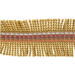 "Fabricut 2.25"" Shinzan Bullion Fringe Sunset"