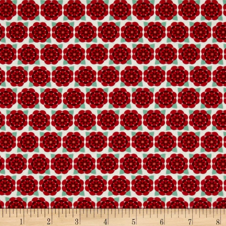Alabama State Flower Camelia Red/Green/White