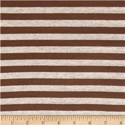 Jersey Knit Stripes Light Brown/Oat
