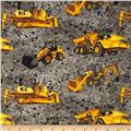 Caterpillar Machines on Gravel Gray