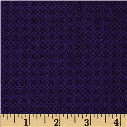 "108"" Wide Essentials Quilt Backing Criss Cross Purple"