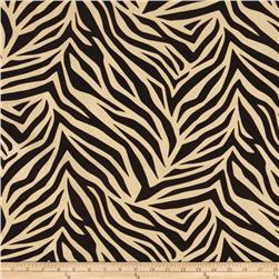 Tempo Tiger Flocked Taffeta Cream/Brown