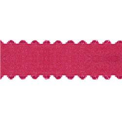 1.5'' Satin Scalloped Edge Ribbon Fuchsia