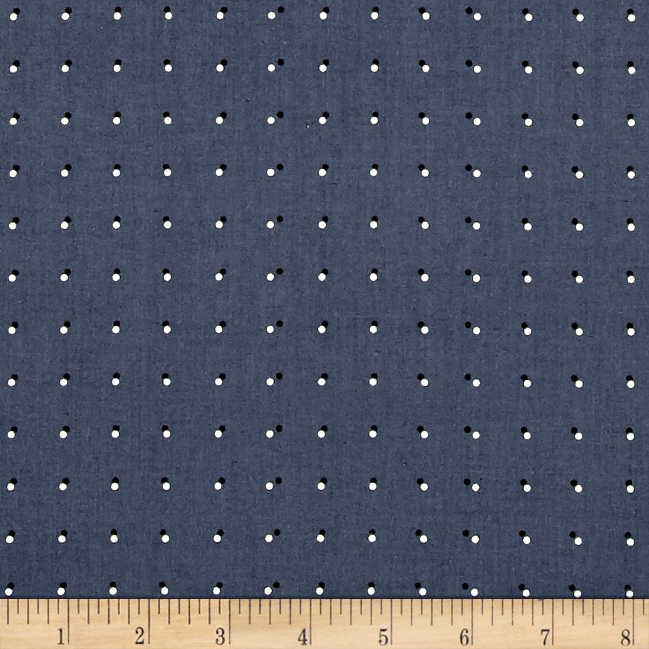 Cotton + Steel Black & White 2017 Double Dots Dark Grey Fabric