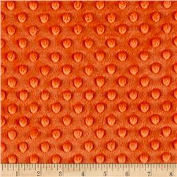 Michael Miller Minky Solid Dot Orange