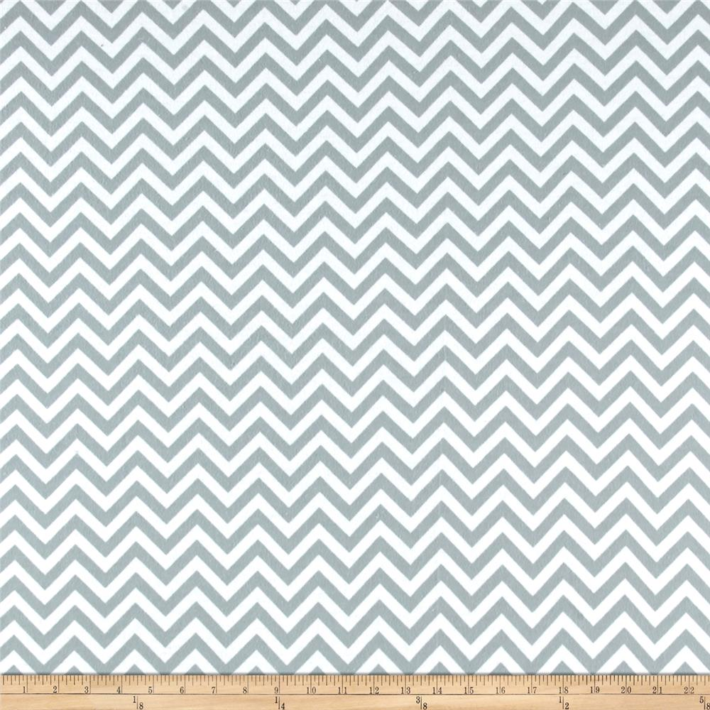 Flannel Chevron White/Stone Fabric