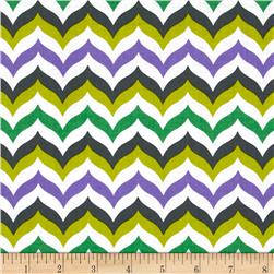Let's Play Dolls Chevron Purple Fabric