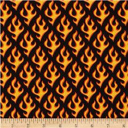 Robert Kaufman Super Speedway Flames Black