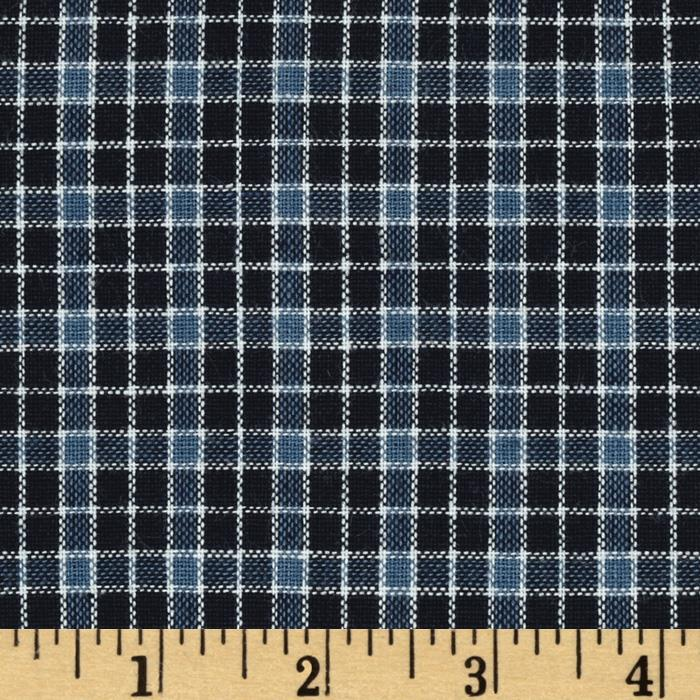 Yarn-Dyed Plaid Shirting Navy