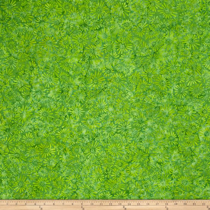 Wilmington Batiks Flower Field Bright Green