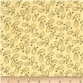 Moda Print Charming Leaves Cream/Teal