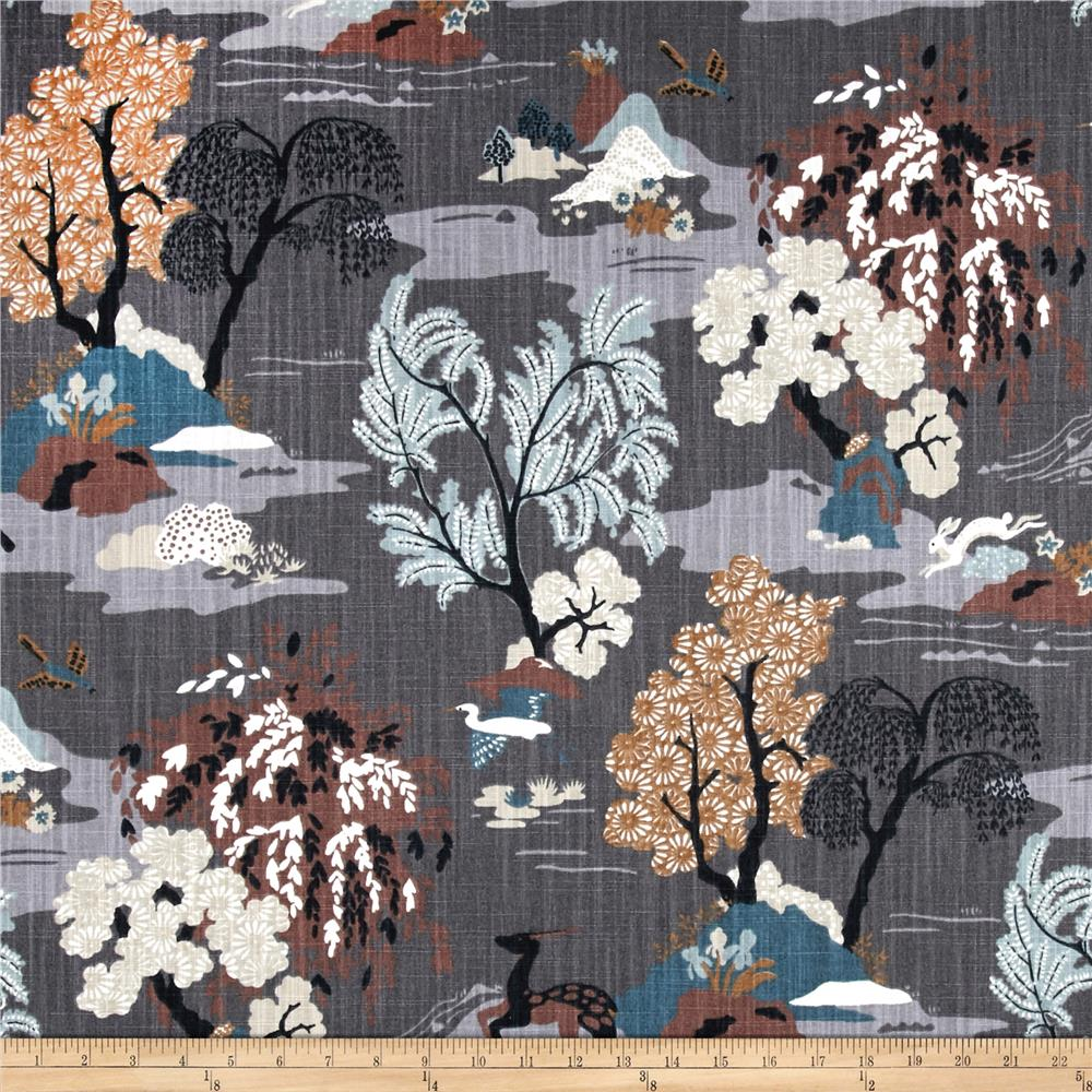 Dwell Studio Modern Toile Graphite   Discount Designer Fabric   Fabric.com Part 59